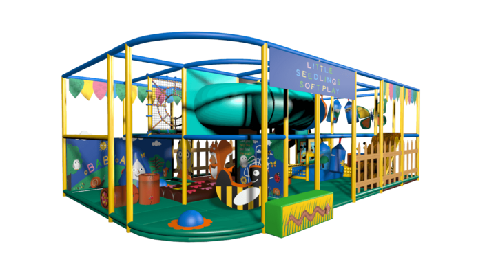Forest soft play equipment, indoor playground equipment
