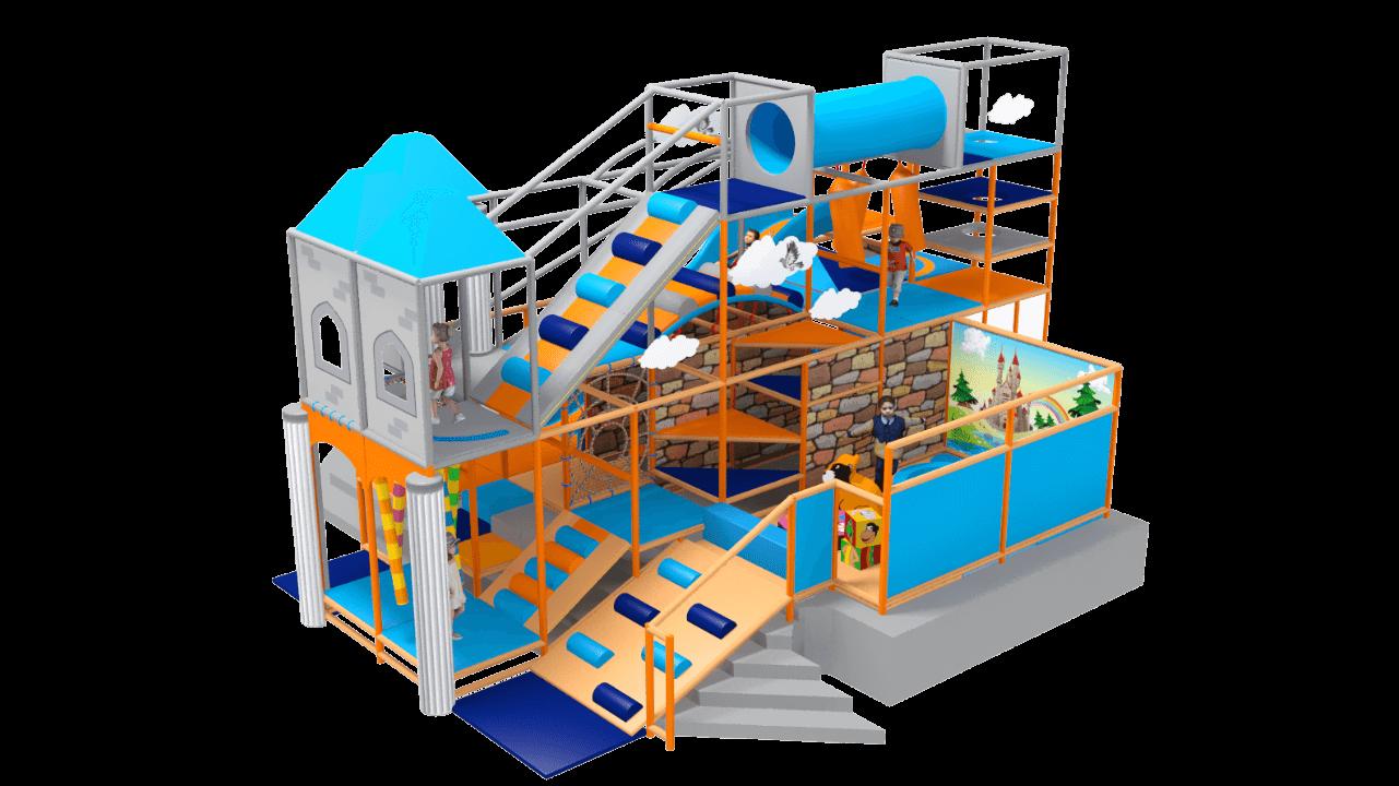 Fantasy castle soft play equipment, castle indoor playground equipment