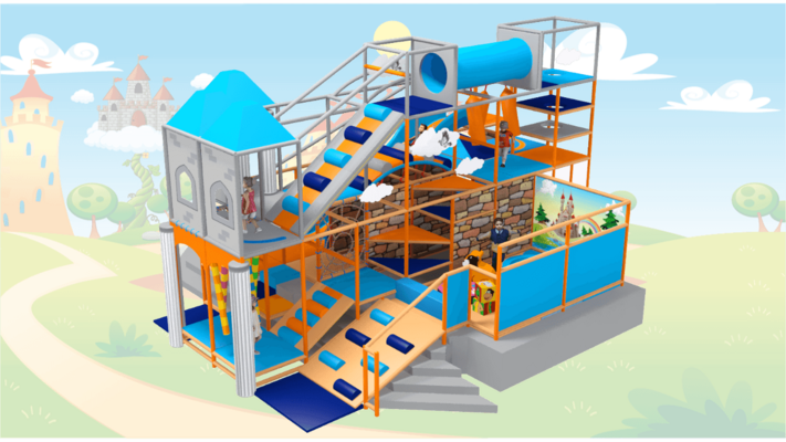 Fantasy Castle Soft Play Equipment, Castle Indoor Playground Equipment
