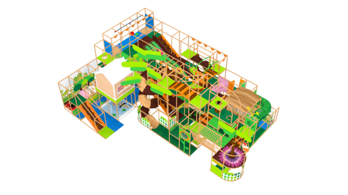 Fantasy forest soft play equipment, enchanted forest indoor playground equipment