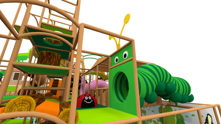 Fantasy forest soft play equipment, indoor playground equipment