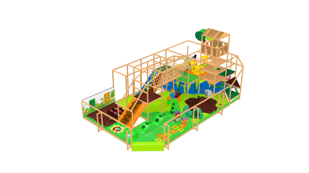 Fantasy forest soft play equipment, indoor playground equipment