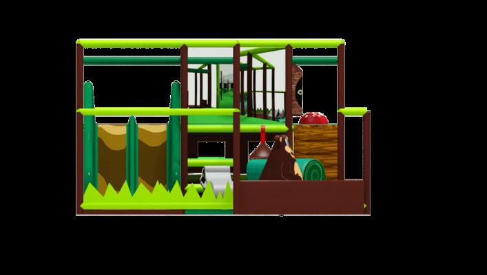 Woodland soft play equipment, indoor playground equipment