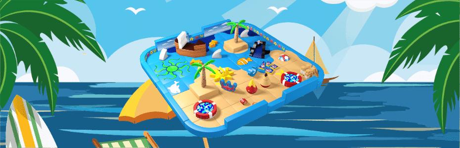 Beach demount-able pack away soft play design