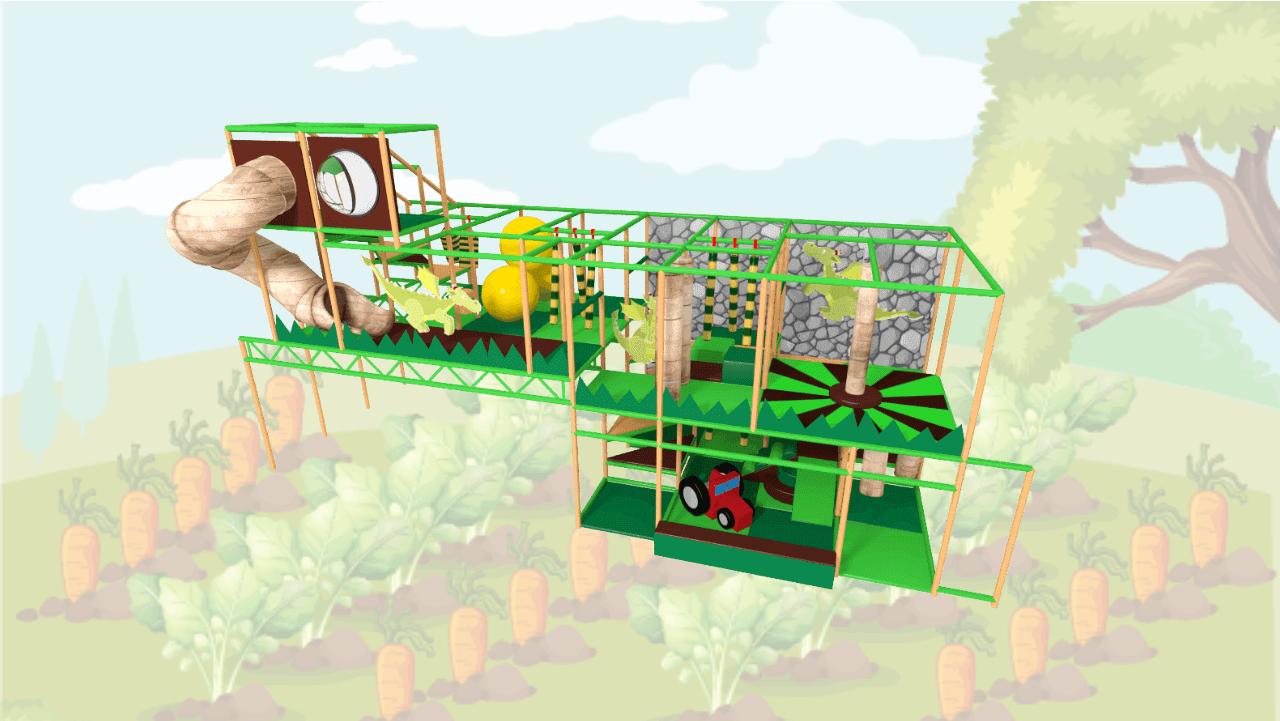 Farm soft play equipment, indoor playground equipment