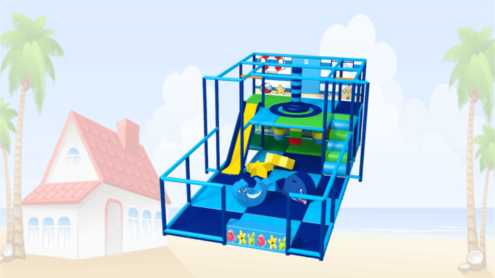 Beach Soft Play Equipment, Seaside Indoor Playground Equipment