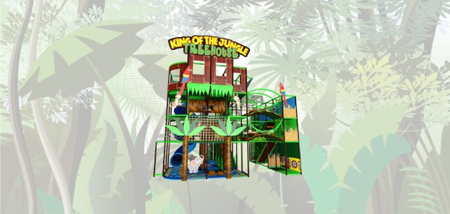 Tree house jungle soft play indoor playground design