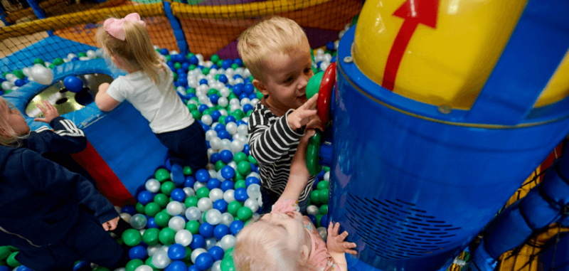 Soft play equipment, indoor playground features