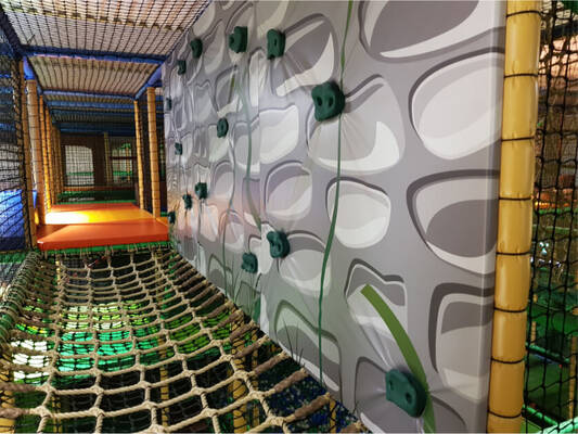 Soft play centre features, indoor playground design and install