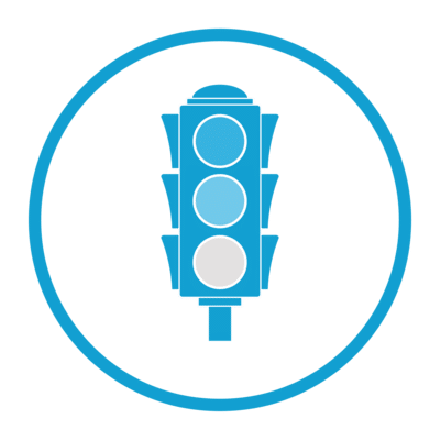 Traffic light reporting icon