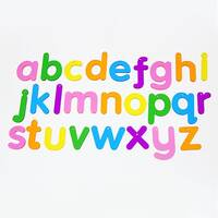 transparent acrylic alphabet letters recognition sensory colour exploration