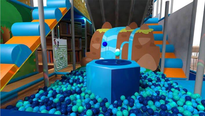 Soft play & indoor playground ball pool ball boggler