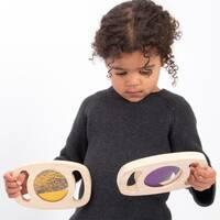 Glitter sensory toys and equipment, sensory play