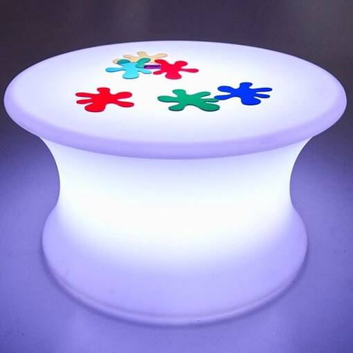 Colour changing illuminated mood sensory table equipment furniture