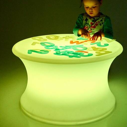 Colour changing illuminated mood sensory table equipment furniture
