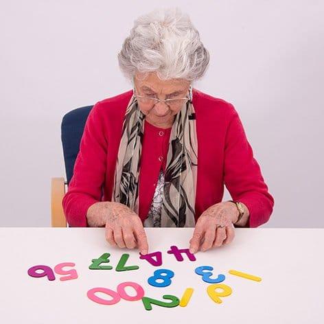 Transparent acrylic numbersletters recognition sensory colour exploration