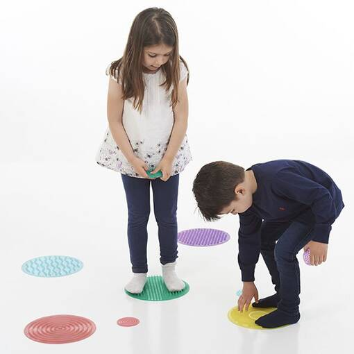 Silicone tactile sensory circle set silishapes