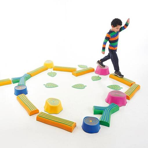 Forest themed sensory integration balance set step-a-forest