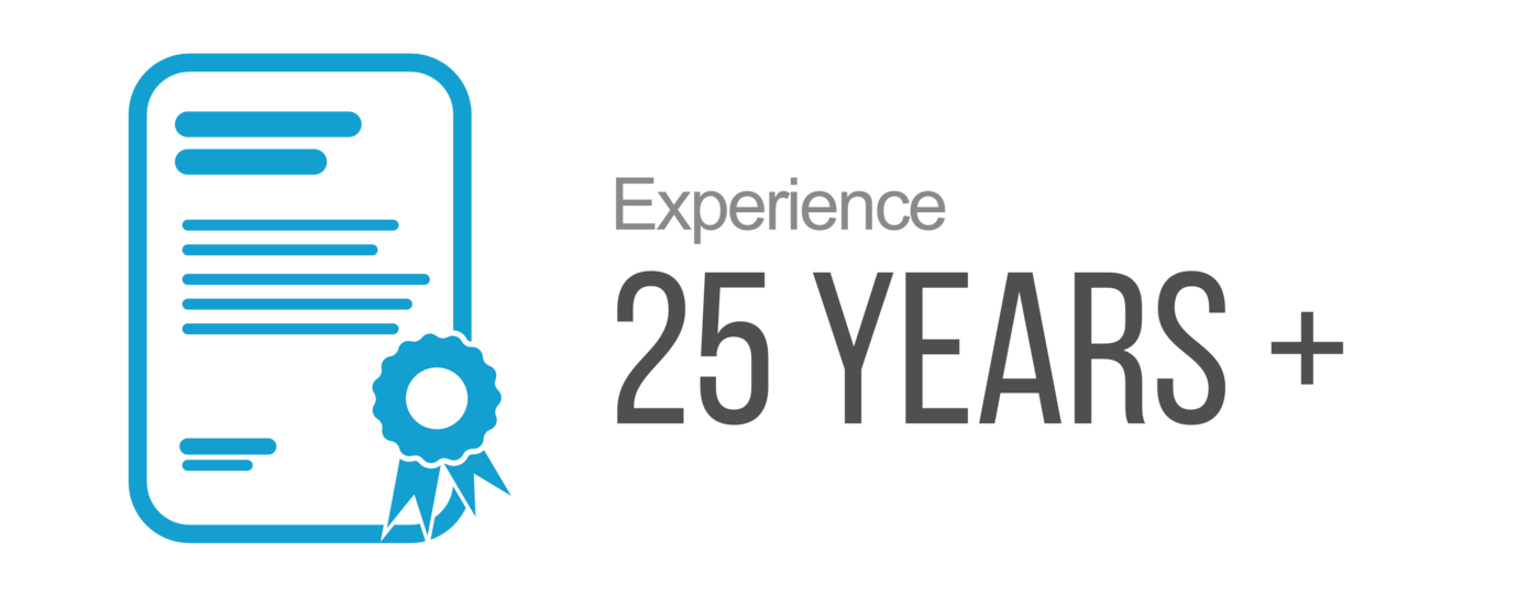 25 years experience icon