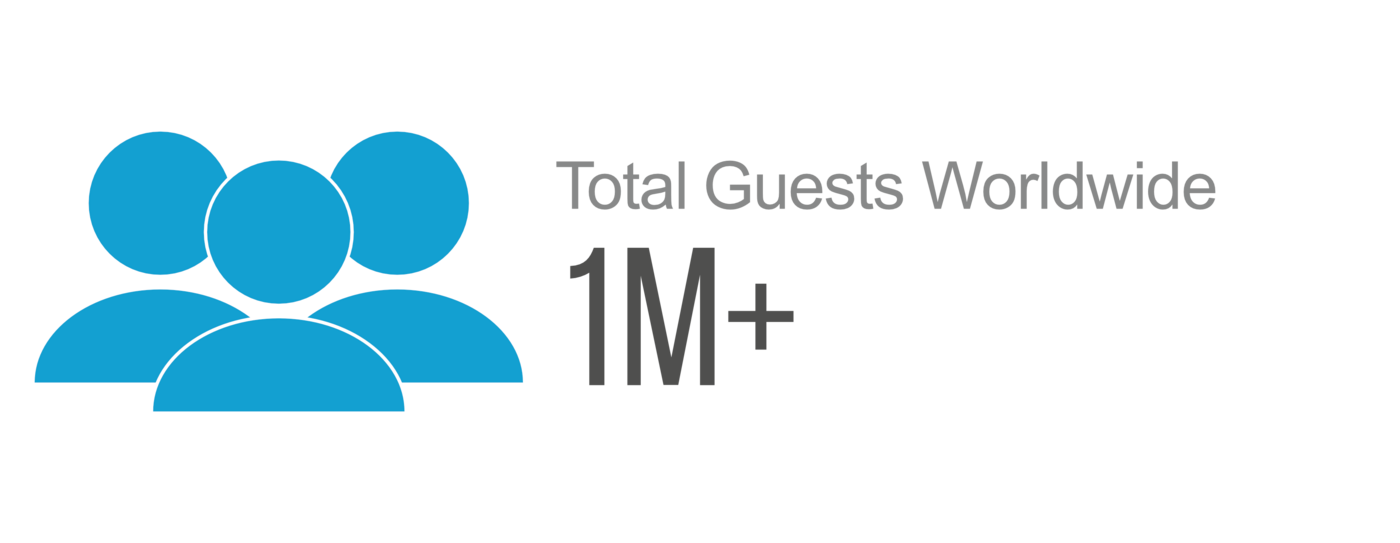 Total guests world wide icon