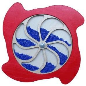 Sensory water wheel rainfall rain panel