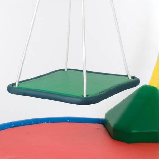 Platform swing for sensory ingratiation free-standing frame for swings