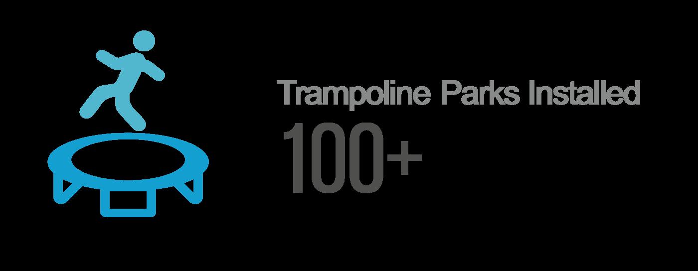 Trampoline park installation icon