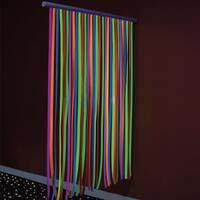 Uv ultraviolet waterfall curtain for sensory rooms