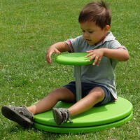 whirly spinning disc for sensory integration sit and spin dizzy whizzy