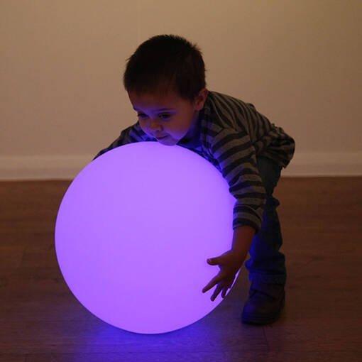 Led sensory mood ball sphere light up hollow ball