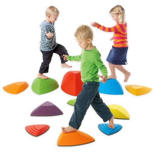 Stepping stones balance set from gonge riverstones set for sensory integration and balance skills