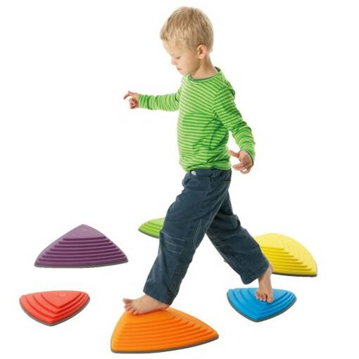 Stepping stones balance set from gonge riverstones set for sensory integration and balance skills