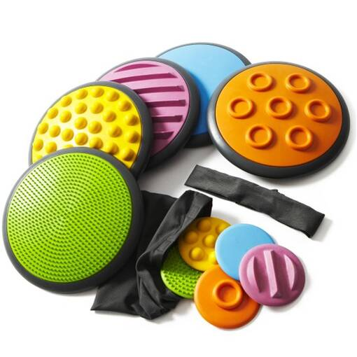Gonge tactile discs for hands and feet