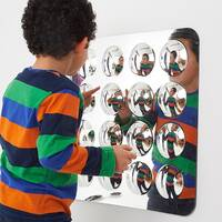convex domed acrylic mirror for sensory rooms and classrooms
