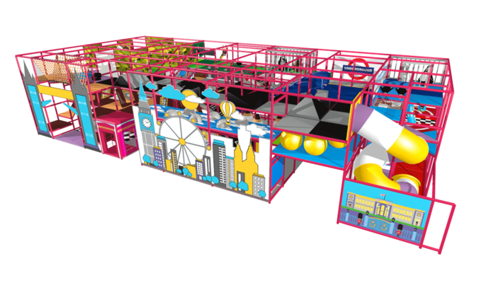 Indoor playground play structure