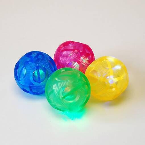 Flashing sensory balls pack 4 irregular