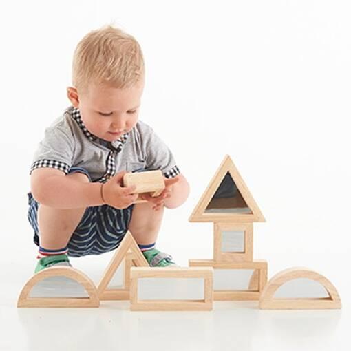 Sensory mirror block set for early years sensory exploration and construction