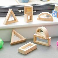 Sensory mirror block set for early years sensory exploration and construction