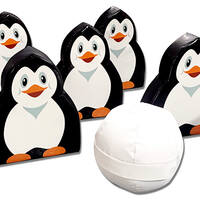 Soft play foam penguin bowling skittles set