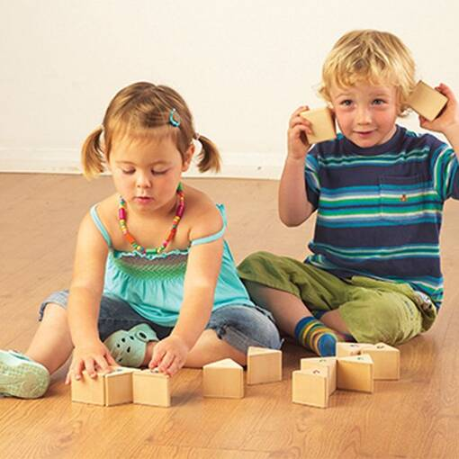 Set of 12 sound prism set for audio stimulation and early years