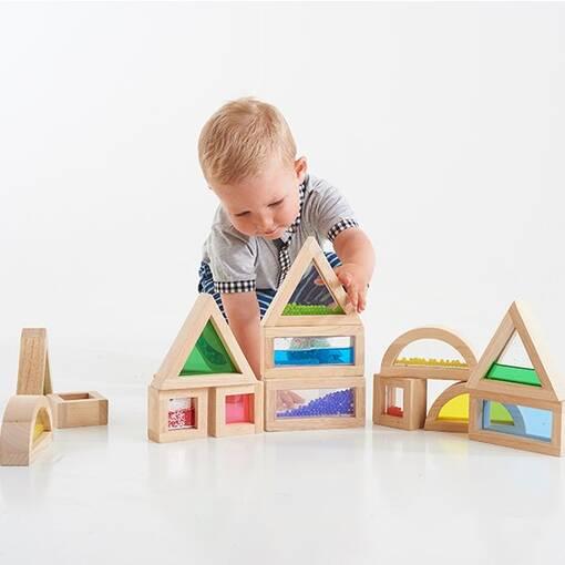 Sensory block set for early years sensory exploration and construction