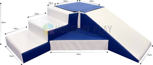 Step and slide soft play blue by house of play