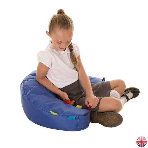 Sensory touch tags seat support for children