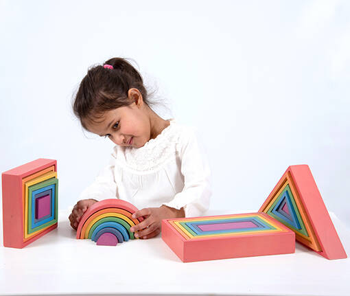 Rainbow architects shapes and arches for early years