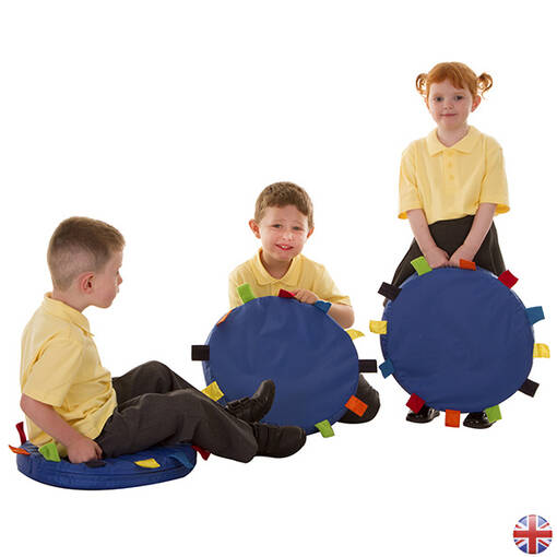 Sensory touch tag cushions 6 pack