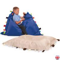 Natural Sensory Touch Tags Bean Bag Floor Cushion 2pk