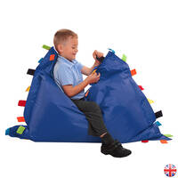 Sensory tags floor cushion blue 300dpi