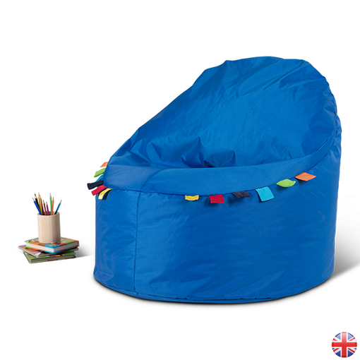 Sensory touch tag bean bag chair