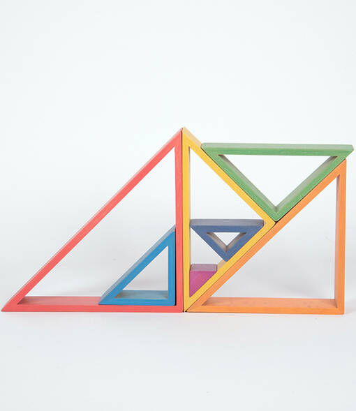 Rainbow architect triangles for early years