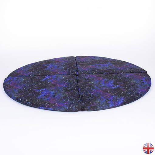Galaxy effect corner floor mat